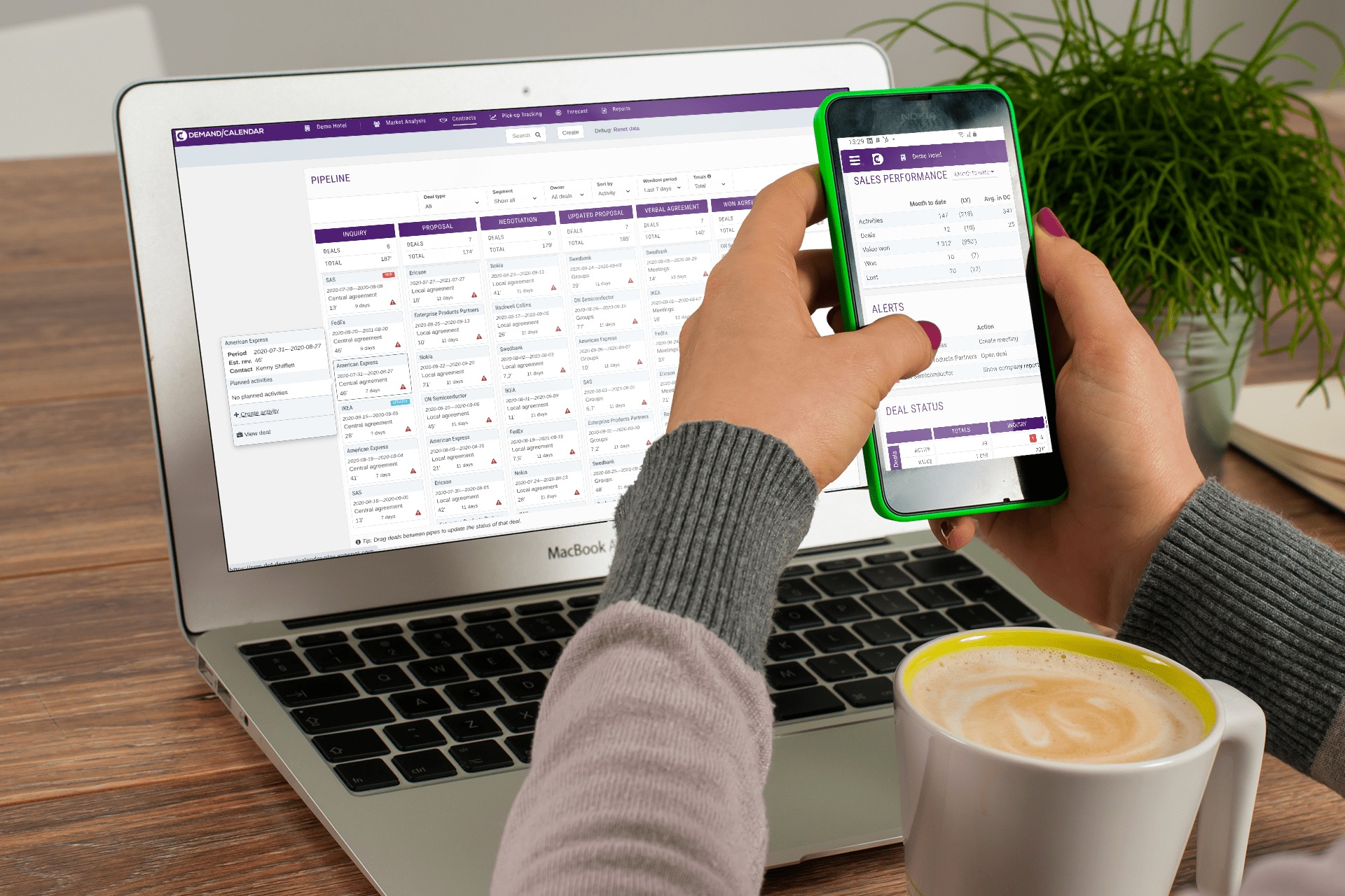 Sales - Pipeline Macbook, daschboard mobile